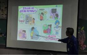 くにさきエコシステムの地域学校への環境授業風景
